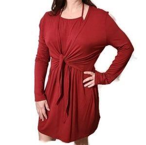 Grace Karin wrap-around long sleeve dress